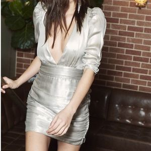 SAYLOR Silver Madonna Dress
